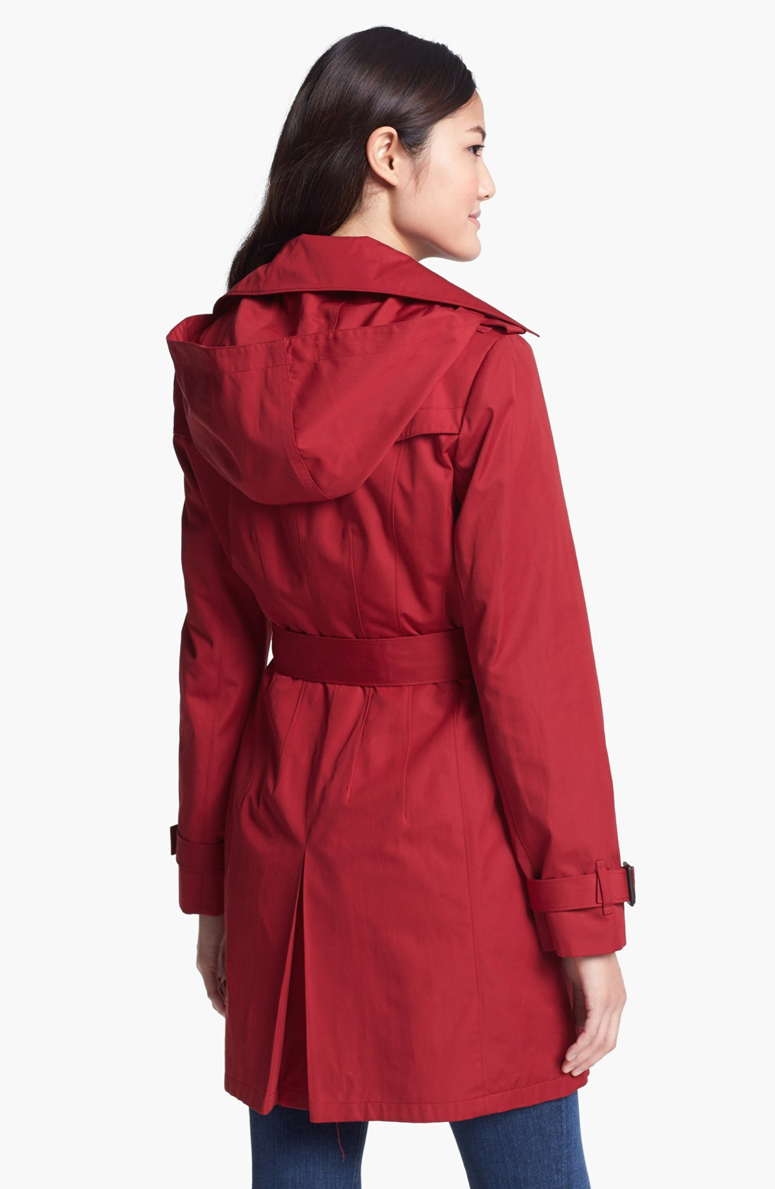 Images of Red Trench Coat With Hood - Watch Out, There's a Clothes ...