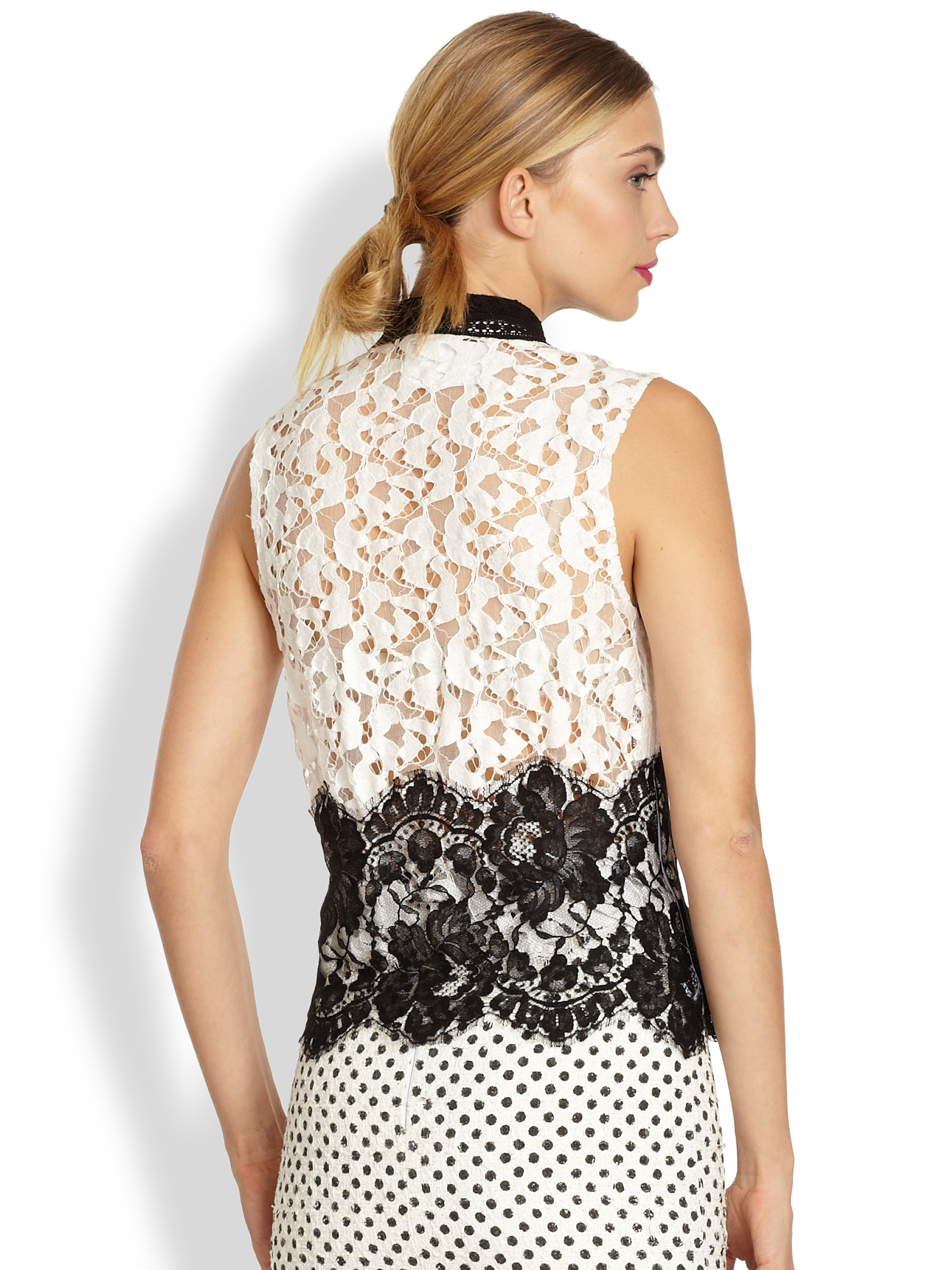 Oscar de la Renta sleeveless top Stockist Online Outlet Store For Sale PQcpNjhj8