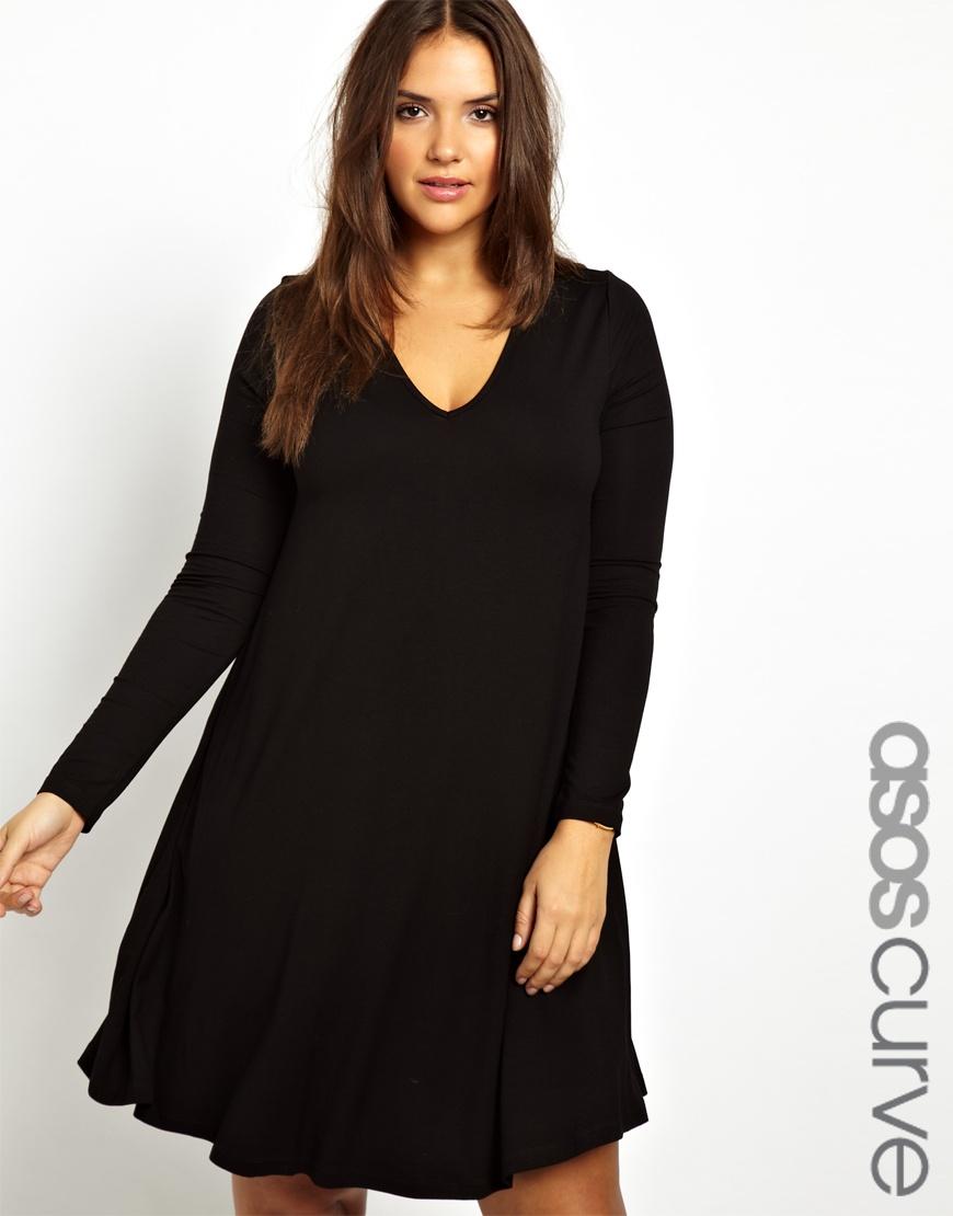 Длинное платье - разлетайка с рукавами