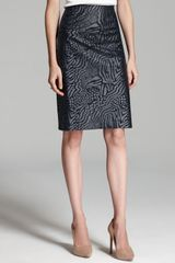 Rachel Roy Coated Animal Skirt - Lyst