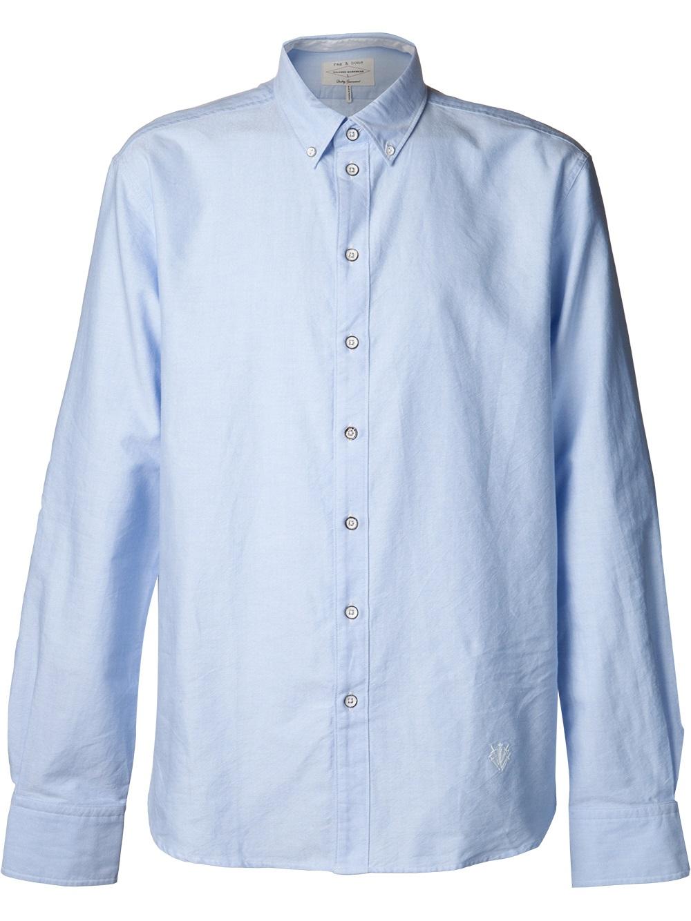 Rag Amp Bone Button Down Oxford Shirt In Blue For Men Lyst