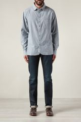 Rag & Bone Button Down Placket Shirt - Lyst