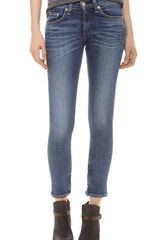 Rag & Bone The Skinny Ankle Zip Jeans - Lyst