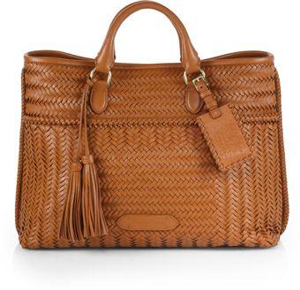 Ralph Lauren Collection Woven Tote - Lyst