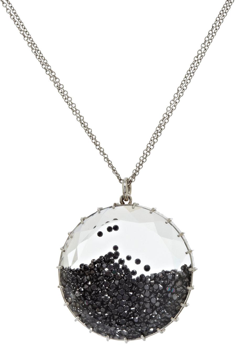 renee lewis white gold black diamond shake pendant. Black Bedroom Furniture Sets. Home Design Ideas