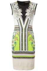 Roberto Cavalli Lace Insert Dress - Lyst