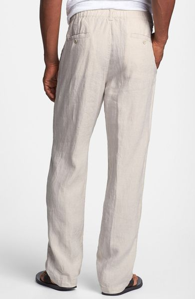 Tommy Bahama New Linen On The Beach Pants In Beige For Men