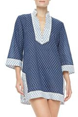 Tory Burch Boria Voile 34sleeve Coverup Tunic - Lyst