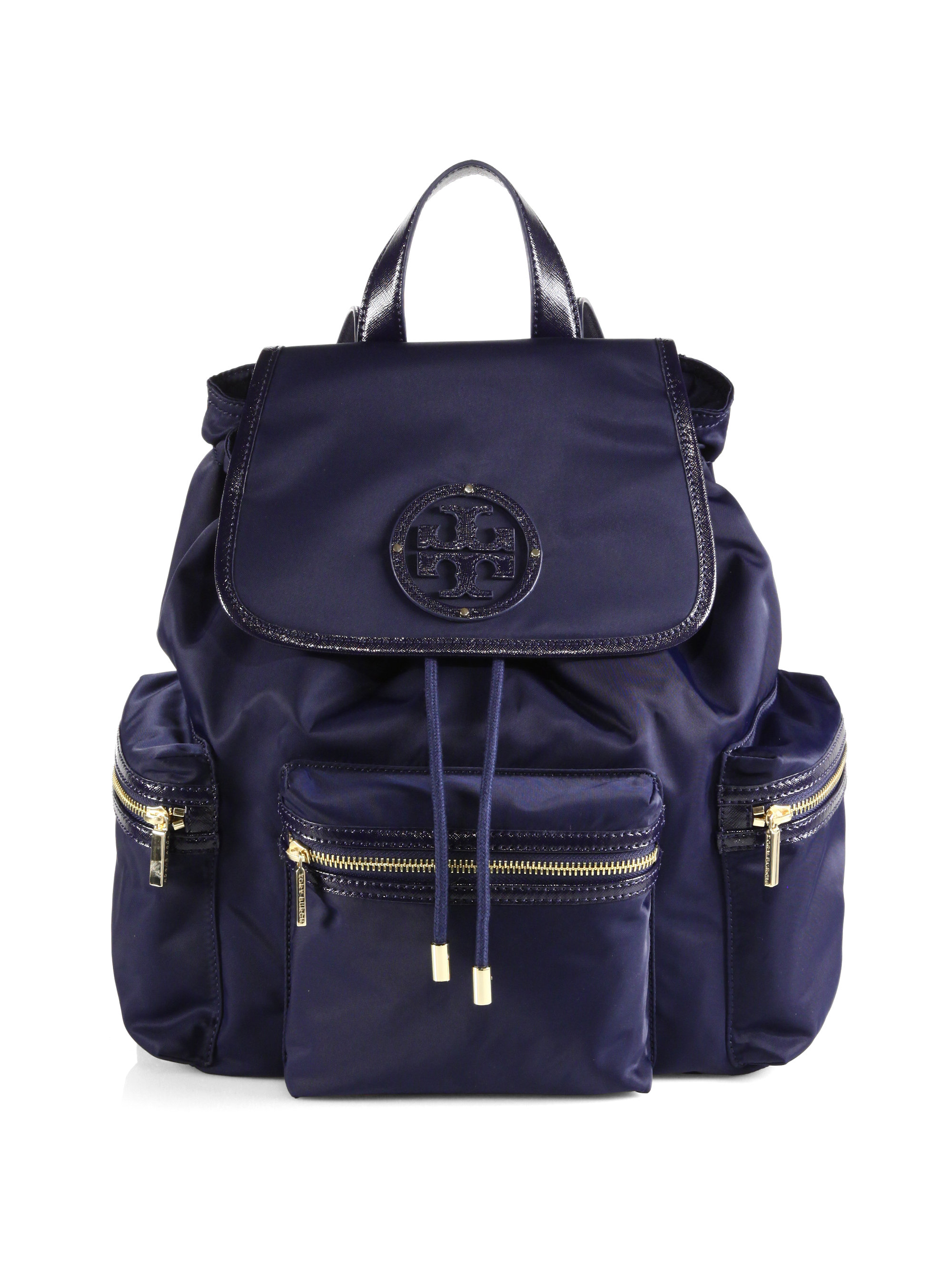 Tory Burch Bill Nylon Backpack in Blue (VIOLET BLUE)