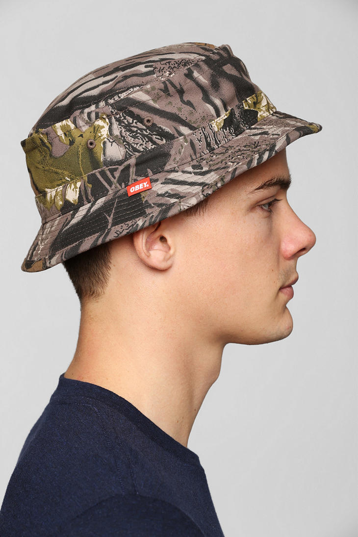 614be79a068 Lyst - Urban Outfitters Obey Uplands Bucket Hat in Green for Men