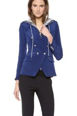 Veronica Beard The Dickey Jacket with Waffle Hood - Lyst