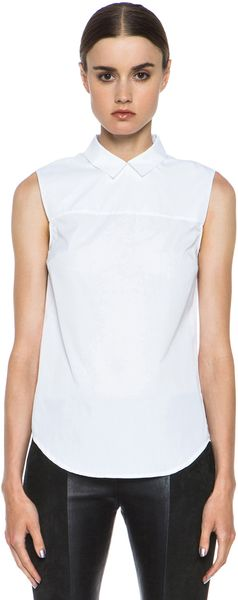 Victoria Beckham Denim Zip Back Shirt - Lyst
