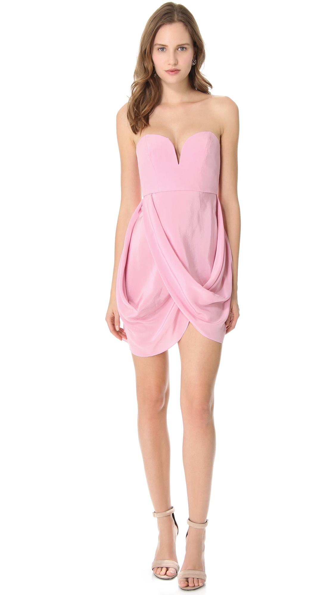 Zimmermann Draped Dress in Pink (Rosa)