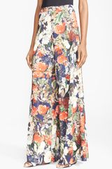 Alice + Olivia Print Wide Leg Pants - Lyst