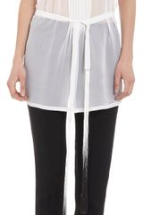 Ann Demeulemeester Gradient Sleeveless Pleated Front Top - Lyst