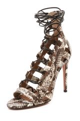 Aquazzura Amazon Lace Up Sandals - Lyst