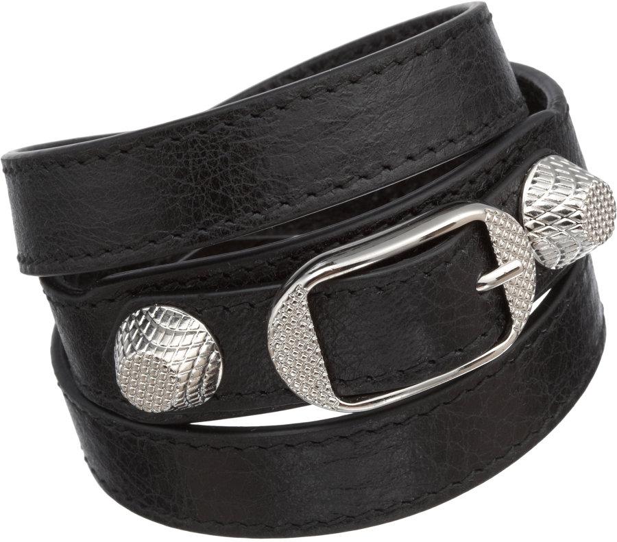 55f324913701b Balenciaga Arena Giant Nickel Double Tour Bracelet in Black for Men ...