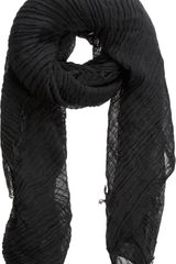 Barneys New York Lightweight Crinkled Square Scarf - Lyst