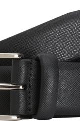 Barneys New York Textured Belt - Lyst