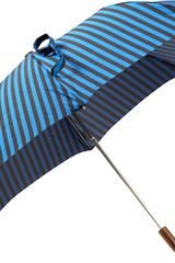 Barneys New York Compact Striped Folding Umbrella - Lyst