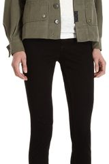 Barneys New York Co-op Vintage Button Front Army Jacket - Lyst