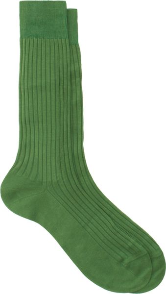 Barneys New York Ribbed Midcalf Socks - Lyst