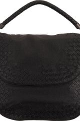Bottega Veneta Intrecciatodetailed Flap Shoulder Bag - Lyst