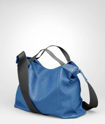 Bottega Veneta Électrique Intrecciomirage Lavé Cross Body Messenger - Lyst