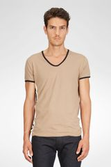 Bottega Veneta Walnut Pearl Dark Navy Organic Cotton Tshirt - Lyst