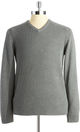 Calvin Klein Jeans Ribbed V-Neck Sweater - Lyst