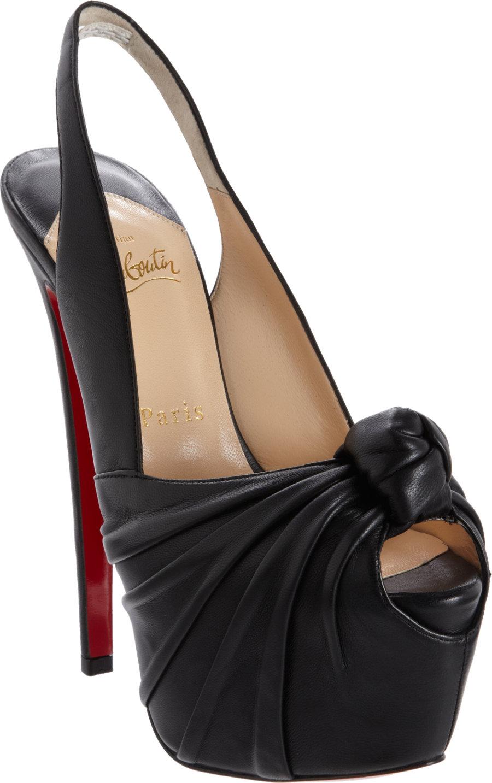 5c70afd907d1 christian louboutin Miss Benin Black Leather - Bbridges