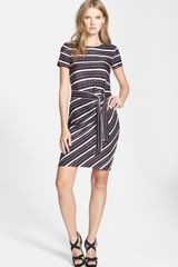 Diane Von Furstenberg Brie Stripe Knit Silk Dress - Lyst