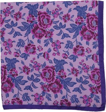 Duchamp Floral Print Pocket Square - Lyst