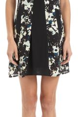 Erdem Silhouette Print Sleeveless Collared Dress
