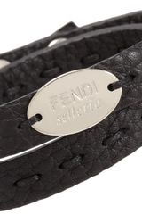 Fendi Leather Selleria Bracelet - Lyst