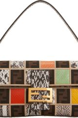 Fendi Exotic Patchwork Baguette Bag - Lyst