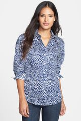 Foxcroft Pebble Print Cotton Shirt - Lyst