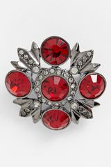 Givenchy Crystal Brooch - Lyst