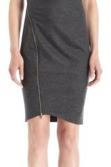 Helmut Lang Asymmetric Sleeveless Dress - Lyst