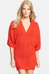 Hervé Léger V-Neck Caftan Cover-up - Lyst