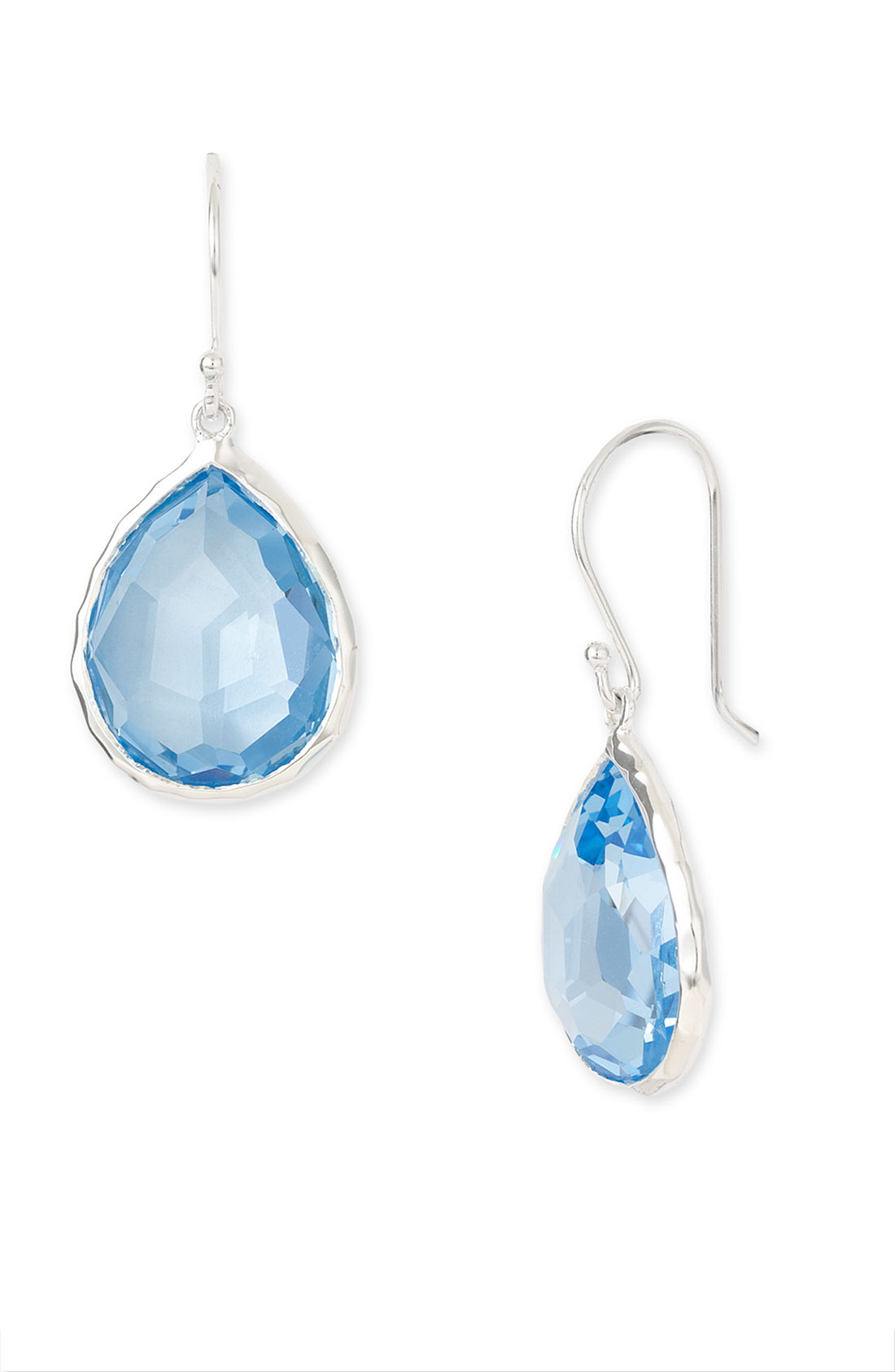 Ippolita Rock Candy Small Teardrop Earrings In Blue