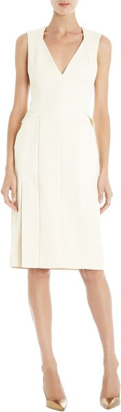 J. Mendel Subtle Peplum Sheath Dress - Lyst
