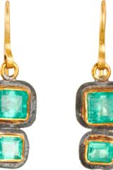 Judy Geib Emerald Small Double Earrings - Lyst