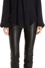 L'Agence Long Sleeve Tie Neck Poet Blouse - Lyst