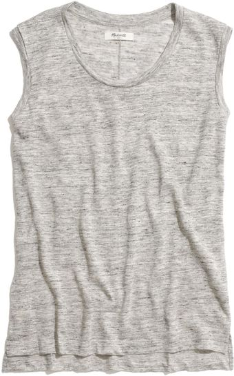 Madewell Modern Linen Muscle Tee in Heather - Lyst