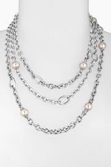 Majorica 10mm Pearl Multistrand Necklace - Lyst