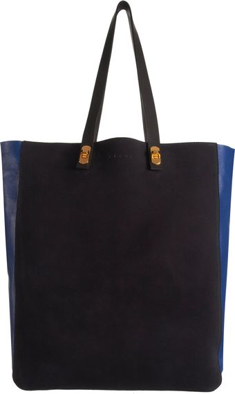 Marni Turn Lock Detailed North South Tote - Lyst