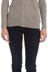 Massimo Alba Pointelle Knit Button Front Cardigan - Lyst