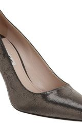 Miu Miu Crackled Pointed Toe Pump - Lyst