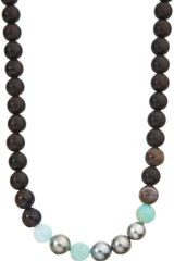 Monique Péan Ebony Opal Pietersite Pearl Bead Necklace - Lyst